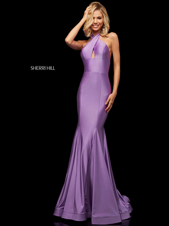 orchid halter prom dress sherri hill 52784