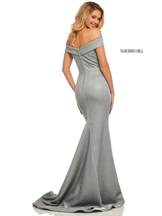Off The Shoulder Sherri Hill Prom Dress 52825