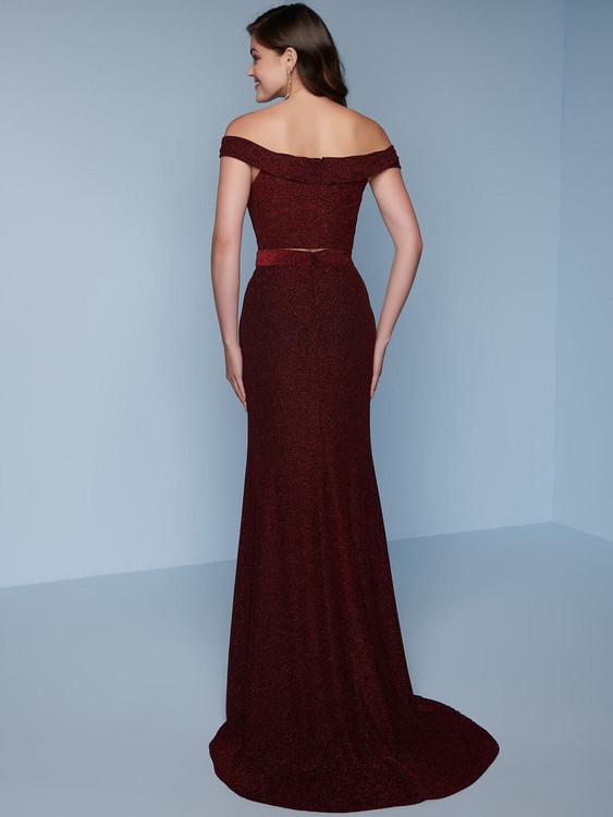 Metallic Jersey Splash Prom Dress K229