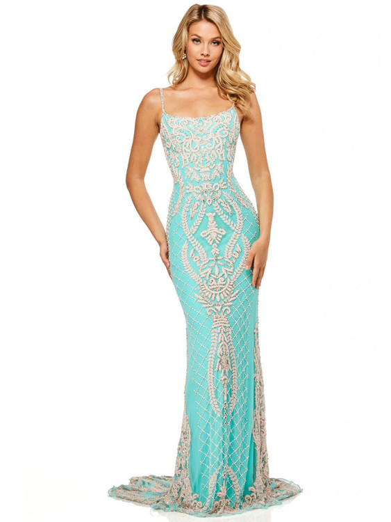 scoop neckline sherri hill prom dress 52454
