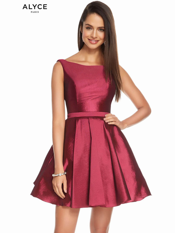 Bateau Neckline Alyce Homecoming Dress 1449