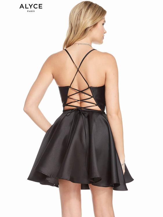 Straight Across Neckline Alyce Homecoming Dress 1455