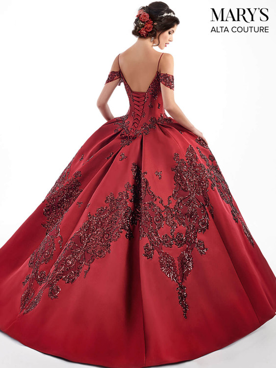 Cold Shoulder Mary's Quinceanera Dress MQ3025