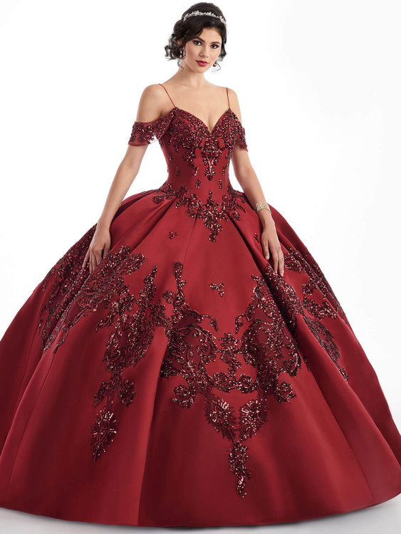 cold shoulder mary's quinceanera ball gown MQ3025