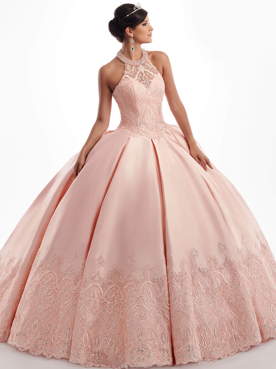 halter mary's quinceanera ball gown MQ3027