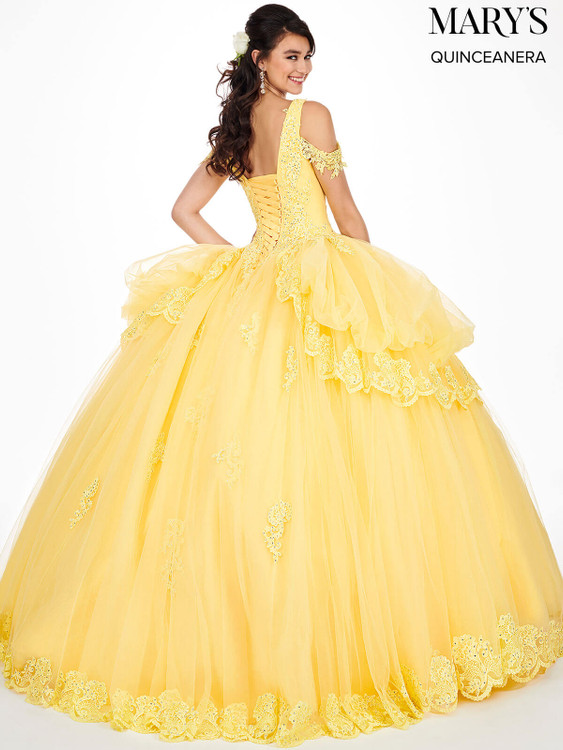 Cold Shoulder Mary's Quinceanera Dress MQ2051