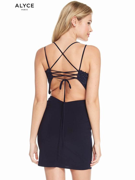 V-neck Alyce Paris Homecoming Dress 4130