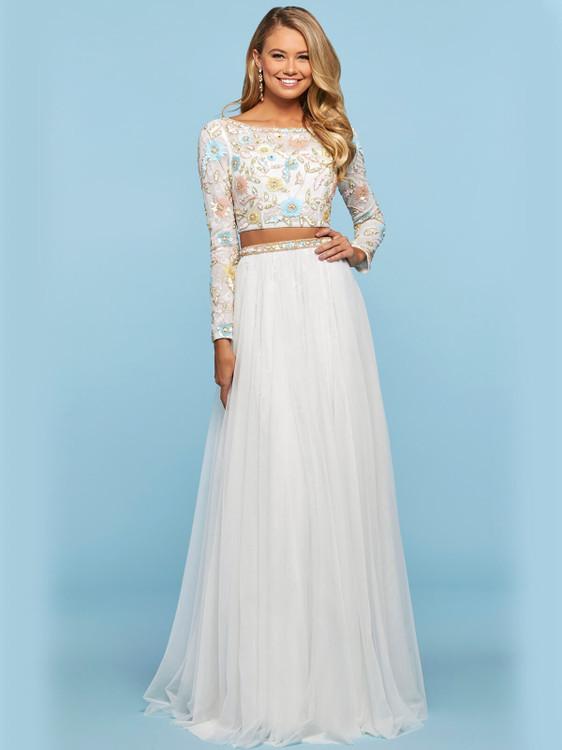 two piece sherri hill prom dress 53553