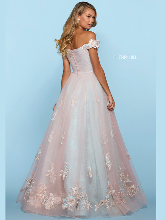 Off The Shoulder Sherri Hill Prom Dress 53587