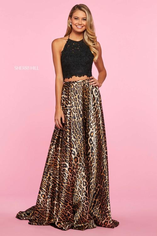 Two Piece Halter Prom Dress Sherri Hill 53369