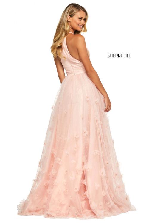 3D Flowers Prom Dress Sherri Hill 53595
