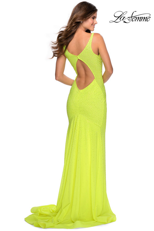 Plunging V-neck La Femme Prom Dress 28760