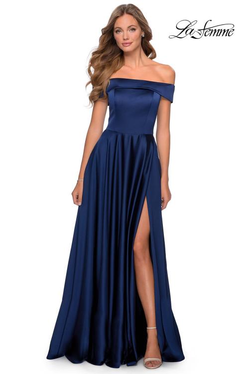 A-line La Femme Prom Dress 28978