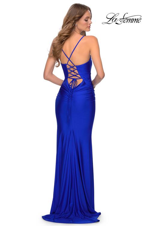 V-neck La Femme Prom Dress 28984