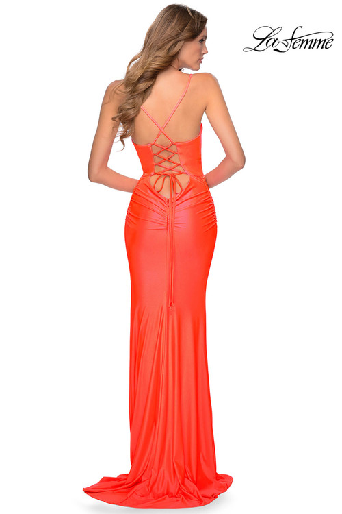 Long Neon La Femme Prom Dress 29010