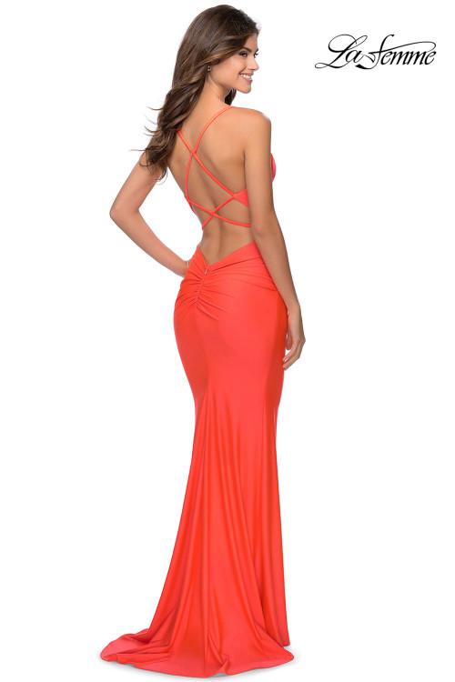 V-neck La Femme Prom Dress 29020