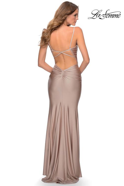 Metallic Jersey Prom Dress La Femme 28398