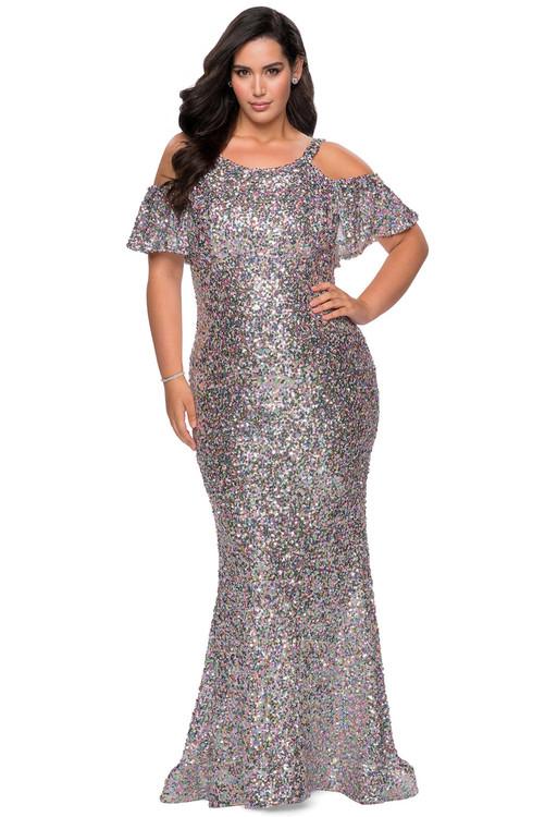 sequin fitted la femme plus size prom dress 28947