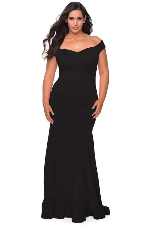 off the shoulder la femme plus size prom dress 28963