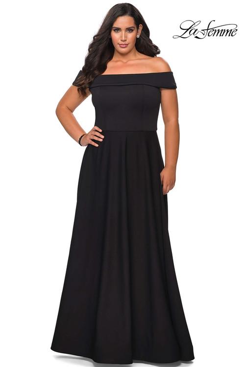 Off The Shoulder La Femme Plus Size Prom Dress 29007