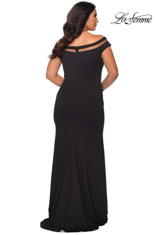 Off The Shoulder Plus Size Prom Dress La Femme 29049