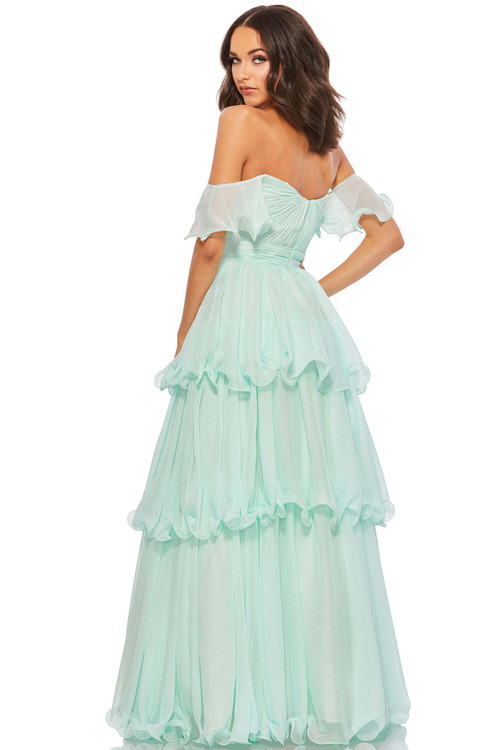 Off the Shoulder Prom Dress Mac Duggal Ball Gowns 49245H