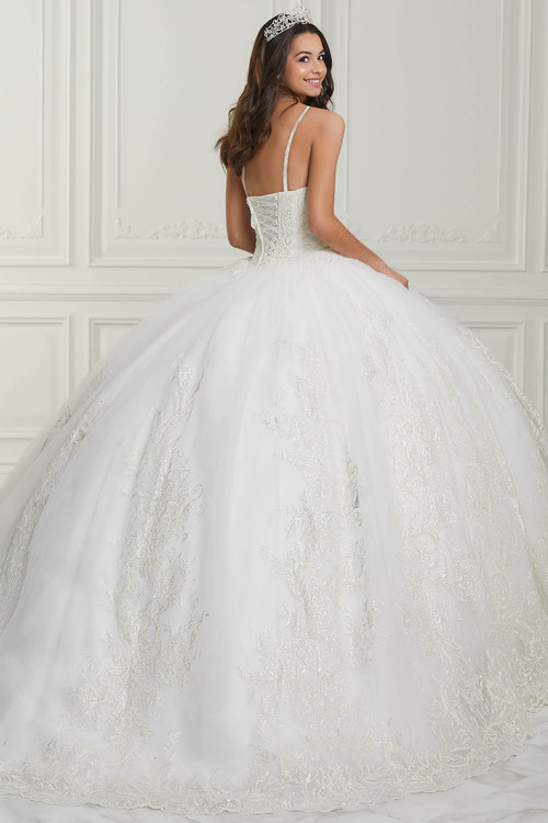 Spaghetti Straps Quinceanera Collection Ball Gown Dress 26985