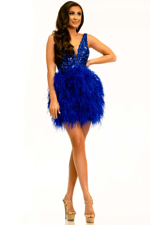 V-neck Short Dress Johnathan Kayne 2314