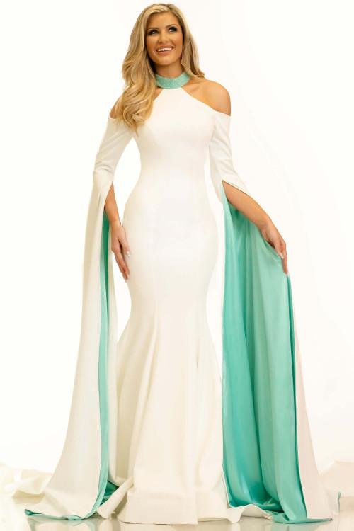 Long Bell Sleeves Pageant Dress Johnathan Kayne 2331