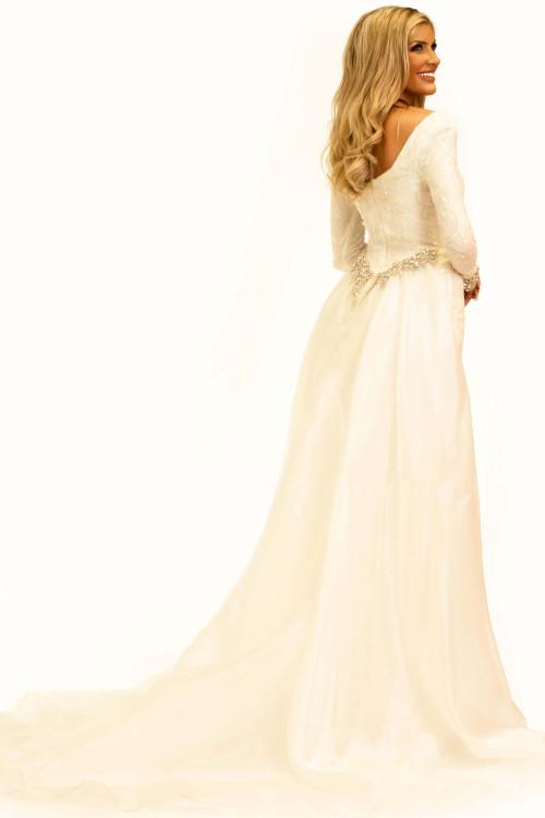 Long Sleeves Pageant Dress Johnathan Kayne 2334
