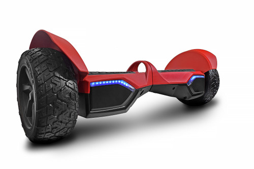 "8.5"" aluminium Offroad Hummer Hoverboard Canada. Red Color built like a tank for very rugged paths and conditions- Side View"
