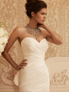 Sweetheart Ruched Satin Bridal Gown Casablanca 2106
