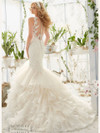 Mori Lee 2819 V-neck Beaded Lace Bridal Dress