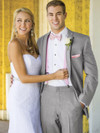 grey wedding tuxedo with slim fit
