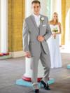 bridal grey tuxedo with sating edged lapel