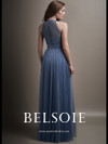 Belsoie L194009 High Illusion Neckline Bridesmaid Dress