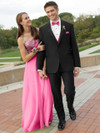 traditional black tuxedo with slim fit for prom by  tony bowls manhattan