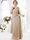 V-neck Pleated Mother Of The Bride Dress Jade J165019