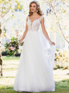 Stella York 6490 V-neckline Wedding Dress