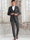 steel grey stearling wedding suit dimitra designs tux rental shop