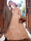 White V-neck wedding gown Essense D2259