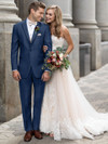 ultra slim indigo blue tuxedo for weddings dimitra designs tux rental