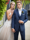 indigo blue wedding tuxedo ike behar by dimitra designs tuxedo shop