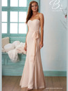 Fit and Flare Bridesmaid Dress B2 B2030005 with Sash