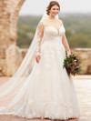 Essense Of Australia Plus Wedding gown D2433