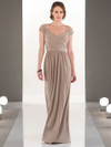 Cap Sleeves Floor Length bridesmaid dress Sorella Vita 8968