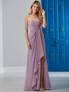 Front Slit Chiffon Bridesmaid Dress by Christina Wu 22839