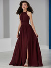Front Slit Chiffon Bridesmaid Dress by Christina Wu 22849