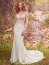 Long Sleeves wedding gown Maggie Sottero Blanche