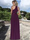 Ashley & Justin High Neckline Chiffon Bridesmaid Dress 20346
